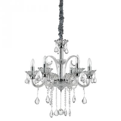Подвесная люстра Ideal Lux Colossal SP6 Trasparente люстра ideal lux colossal sp6 trasparente 114194