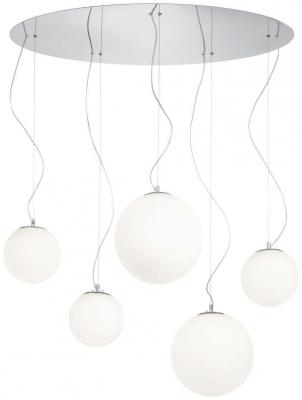Подвесная люстра Ideal Lux Mapa Bianco SP5 подвесная люстра ideal lux ekos sp5 bianco