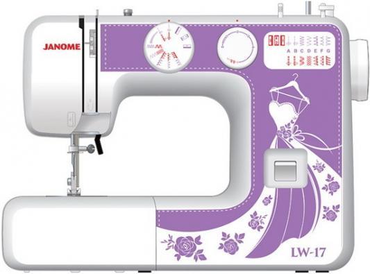 Швейная машина Janome LW-17 белый фиолетовый цена