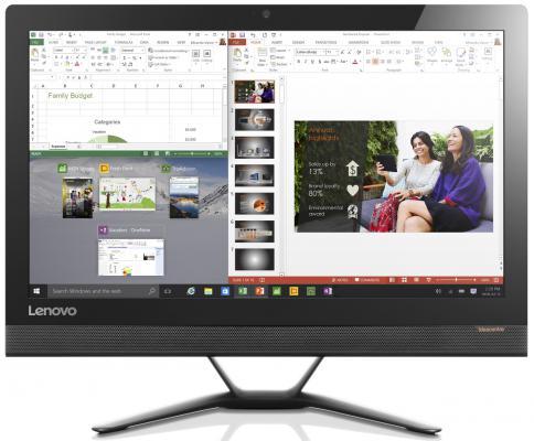 "Моноблок 23"" Lenovo AIO300-23ISU 1920 x 1080 Intel Core i5-6200U 8Gb 750Gb Intel GMA HD использует системную Windows 10 Home черный F0BY00JTRK"