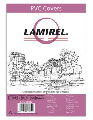 Обложка Fellowes Lamirel A4 прозрачный 100шт LA-7868001
