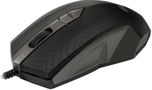 Мышь проводная Ritmix ROM-202 чёрный серый USB