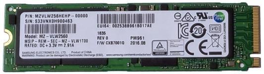 SSD Твердотельный накопитель PCI-E 256Gb Read 2800Mb/s Write 320Mb/s HP Y1T47AA