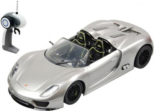 Машинка на радиоуправлении Shantou Gepai 1:24, Porsche 918 Spyder, 4 канала серебристый от 8 лет пластик 866-2414 автомобиль hoffmann porsche 918 spyder concept 1 24 серебристый