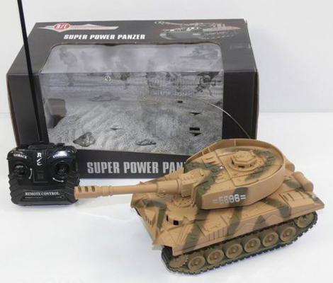Танк на радиоуправлении Shantou Gepai Super Power Panzer камуфляж от 3 лет пластик  5896