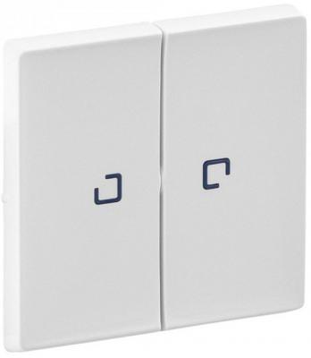 Лицевая панель Legrand Valena Life для выключателя двухклавишного с подсветкой белый 755220