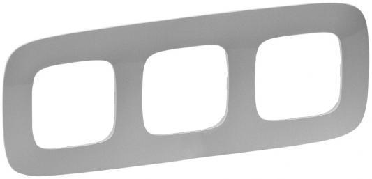 Рамка Legrand Valena Allure 3 поста алюминий 754393  рамка legrand valena 2 поста алюминий серебряный штрих 770352