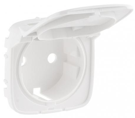 Лицевая панель Legrand Valena Allure для розетки 2К+З с крышкой белый 754845  лицевая панель legrand valena allure для розетки 2к з антрацит 755208