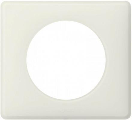Рамка Legrand Celiane 1 пост белый перкаль 66701  выключатель legrand celiane перекрестный 67005