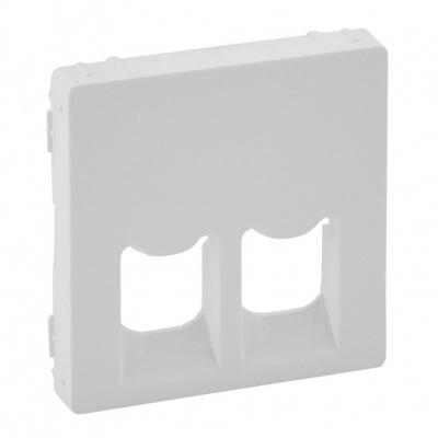 Лицевая панель Legrand Valena Life для двойных телефонных/информационных розеток белый 755420  цены