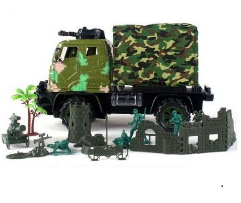 Военный автомобиль на радиоуправлении Shantou Gepai JN128-12 пластик от 3 лет камуфляж