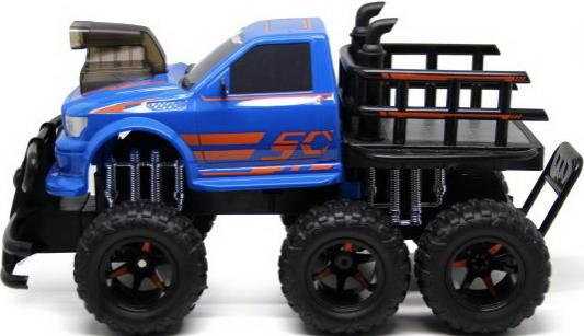 Внедорожник на радиоуправлении Shantou Gepai Автогиганты 6*6 р/у, трехосный, 6 надувных колес пластик от 7 лет синий ld7530pl ld7530 sot23 6
