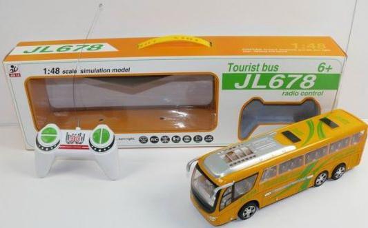 Автобус на радиоуправлении Shantou Gepai Туристический, 4 канала пластик от 3 лет желтый 622437