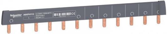 Шинка гребенчатая Schneider Electric 12 модулей 18мм A9XPH112 щиток навесной schneider electric kaedra для 24 модулей пластиковый ip65