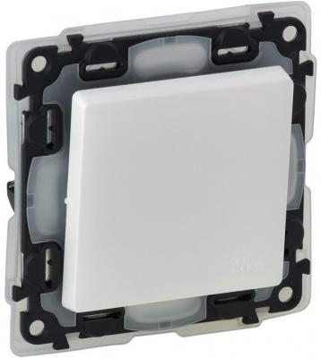 Выключатель Legrand Valena Life IP44 10АХ 250В с лицевой панелью безвинтовые зажимы белый 752151