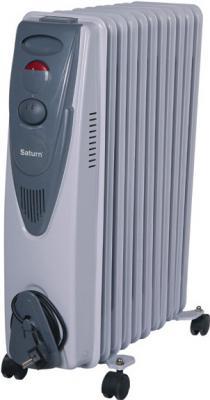 Масляный радиатор Saturn ST-OH0413 2500 Вт термостат ручка для переноски белый