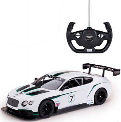 Машинка на радиоуправлении Shantou Gepai BentleyContinentalGT3 белый от 6 лет пластик 70600 rastar bentleycontinentalgt3 70600
