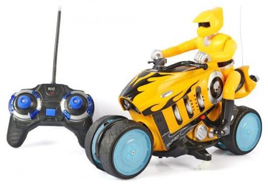Мотоцикл на радиоуправлении Shantou Gepai Мотоцикл желтый от 3 лет пластик 333-930B каталка на палочке shantou gepai карусель петушки от 3 лет разноцветный пластик с ручкой