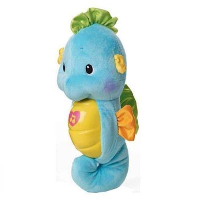 Ночник Жирафики морской конек муз.,подсветка, голубой