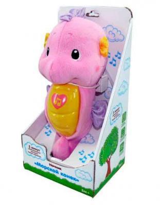 Ночник Жирафики морской конек муз.,подсветка, розовый 626711 ночники жирафики ночник морской конек