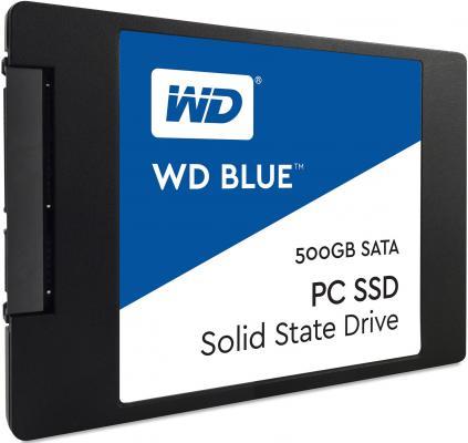 "SSD Твердотельный накопитель 2.5"" 500Gb Western Digital Blue Read 545Mb/s Write 525Mb/s SATAIII WDS500G1B0A"