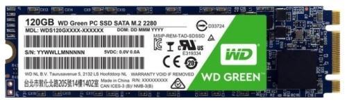 Твердотельный накопитель SSD M.2 120Gb Western Digital Green Read 540Mb/s Write 430Mb/s SATAIII WDS120G1G0B твердотельный накопитель ssd m 2 64gb transcend mts600 read 560mb s write 310mb s sataiii ts64gmts600
