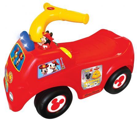 Каталка-пушкар Kiddieland Микки Маус пластик от 1 года на колесах разноцветный 0661148492968 трещины на корпусе каталка качалка r toys лошадка трансформер пластик от 1 года на колесах разноцветный