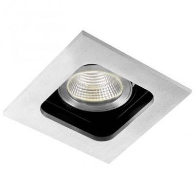 Встраиваемый светильник Donolux DL18614/01WW-SQ Alu/Black встраиваемый светильник donolux sa1543 alu