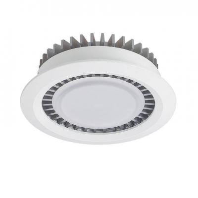 Встраиваемый светодиодный светильник Lucia Tucci Turbo 142.1-10W-WT/GR