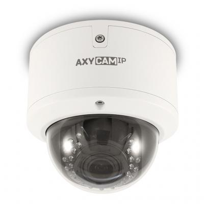 "Камера IP Axycam DOME CMOS 1/2.7"" 1920 x 1080 H.264 RJ-45 LAN PoE белый AD8-43V12NIL-P"