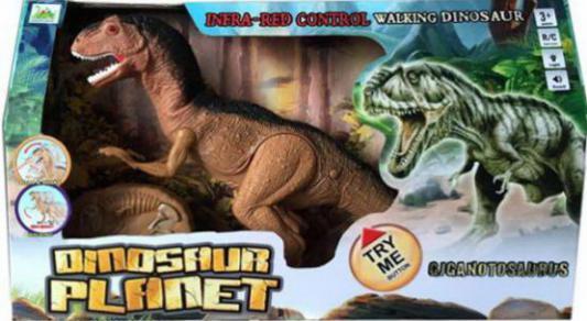Интерактивная игрушка Shantou Gepai Динозавр на радиоуправлении 629269 от 3 лет коричневый