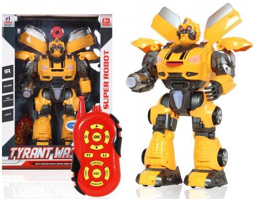 Робот-трансформер Shantou Gepai Tyrant Wasp 45 см на радиоуправлении со звуком светящийся танцующий боевой робот shantou gepai 37 см на радиоуправлении со звуком светящийся двигающийся танцующий
