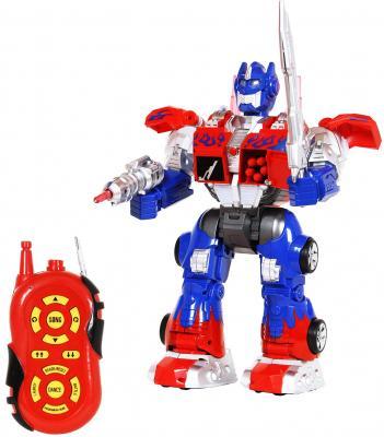 Боевой робот Shantou Gepai 633126 36 см на радиоуправлении со звуком светящийся двигающийся танцующий робот трансформер shantou gepai tyrant wasp 45 см на радиоуправлении со звуком светящийся танцующий 6021