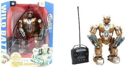 Боевой робот Shantou Gepai Wild Battle - Fighting Champion на радиоуправлении танцующий светящийся со звуком двигающийся 2028-4+B