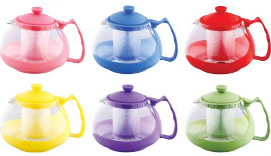 Чайник заварочный Wellberg WB-9904 цвет в ассортименте 0.7 л пластик/стекло