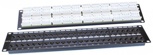 "Патч-панель Hyperline PP3-19-48-8P8C-C5E-110D 19"" 48 портов RJ-45 категория 5e Dual IDC черный"