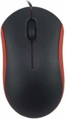 Мышь проводная Ritmix ROM-111 чёрный красный USB цена и фото