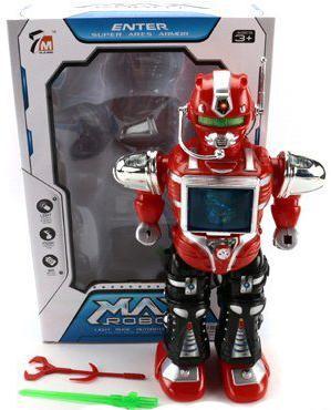 Боевой робот Shantou Gepai Max 36 см двигающийся со звуком светящийся 7M-408 shantou gepai каталка ходунки бегемотик со светом и звуком shantou gepai