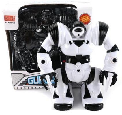 Боевой робот Shantou Gepai Guardian двигающийся со звуком светящийся, Игрушки Роботы  - купить со скидкой