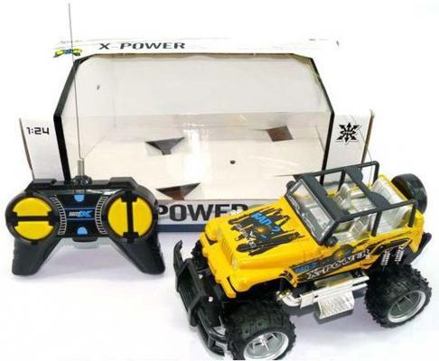 """Машинка на радиоуправлении Shantou Gepai """"Джип"""" желтый от 8 лет пластик 1:24, 4 канала 2011-2E"""