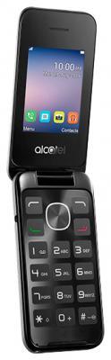 Мобильный телефон Alcatel OneTouch 2051D серебристый раскладной 2Sim 2.4 240x320 2Mpix BT GSM900/1800 GSM1900 FM microSD max32Gb аксессуар защитная пленка alcatel onetouch idol alpha media gadget premium прозрачная mg986