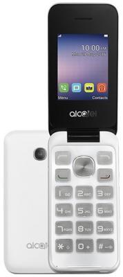 Мобильный телефон Alcatel OneTouch 2051D белый (2051D-3BALRU1) мобильный телефон alcatel onetouch 2051d metal silver