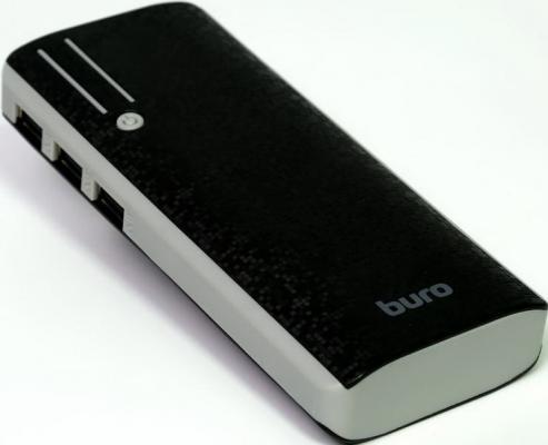 Портативное зарядное устройство Buro RC-10000 10000мАч черный/серый портативное зарядное устройство buro rc 7500a b 7500мач черный