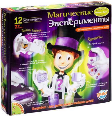 """Игровой набор BONDIBON Французские опыты Науки с Буки """"Магические эксперименты"""" (12 экспериментов) ВВ47453"""