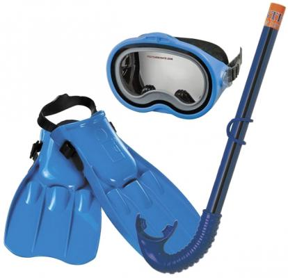 Набор для плавания  Intex: маска,трубка, ласты, от 8 лет 55952 intex маска для плавания бегемот лягушка intex в ассорт