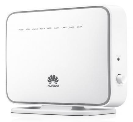 Беспроводной маршрутизатор ADSL Huawei HG531 802.11bgn 300Mbps 2.4 ГГц 4xLAN USB белый