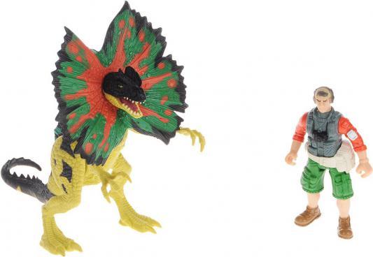 Игровой набор CHAP MEI Дилофозавр и охотник со снаряжением 6 предметов 4893808201511