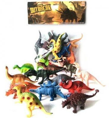 Игровой набор Shantou Gepai Динозавры 12 предметов K188 игровой набор shantou gepai магазинчик тележка с продуктами 14 предметов