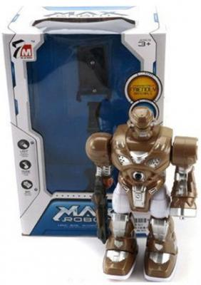 Интерактивный робот Shantou Gepai Max со звуком светящийся двигающийся боевой робот shantou gepai воин галактики 30 см двигающийся со звуком светящийся 6007