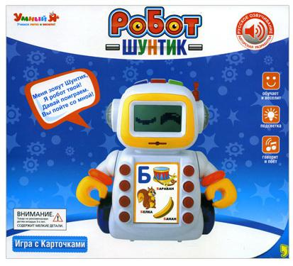Интеллектуальный робот Shantou Gepai Шунтик 60 карточек 29 см со звуком
